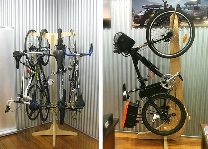 Indoor Bike Storage Vertical